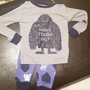 Moms tough guy pjs 18-24m gray and blue